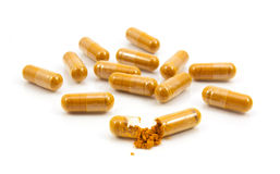 A Herbal drug an alternative medicine in capsule Royalty Free Stock Images