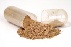 Herbal Drug Capsule Stock Photo