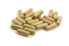 Herbal drug capsule Royalty Free Stock Images