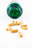 Herbal Drug Capsules Royalty Free Stock Photo