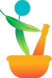 Herbal emblem Royalty Free Stock Photography