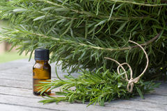 Herbal essence with rosemary Royalty Free Stock Photo