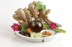 Herbal facial mask Body Skin whitening with Ivy Gourd, Honey and pandan. Stock Images