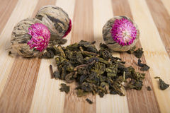 Herbal flower and milk oolong  tea Stock Image