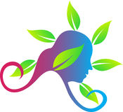 Herbal girl royalty free illustration