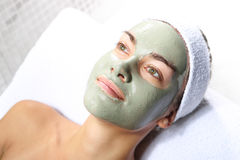 Herbal green mask Royalty Free Stock Photography