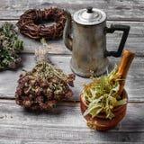 Herbal healing tea Stock Images