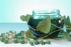 Herbal healthcare Stock Image