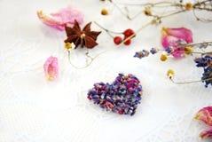 Herbal heart Royalty Free Stock Photos