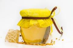 Herbal honey isolated Royalty Free Stock Photo