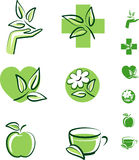 Herbal icons royalty free illustration
