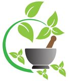 Herbal. Illustration art of herbal logo with isolated background Royalty Free Stock Photos