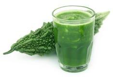 Herbal juice of green momodica Stock Photo