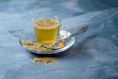 Herbal linden tea helps to fight flue. Stock Images