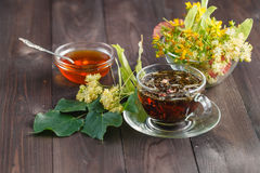 Herbal linden tea royalty free stock images
