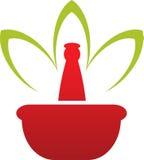 Herbal logo Royalty Free Stock Photography