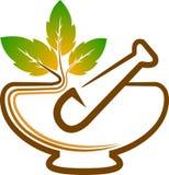 Herbal logo vector illustration