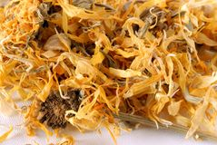 Herbal marigold tea Royalty Free Stock Images