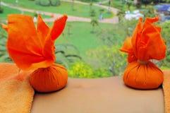 Herbal massage Stock Photos