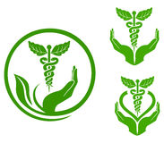 Herbal medicine. A illustration of herbal medicine symbol Stock Photography