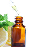 Herbal medicine or aromatherapy dropper bottle stock image