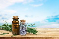 Herbal Medicine. Aromatherapy Oil Aromatherapy Herb Rosemary Beauty Treatment Spa Treatment Royalty Free Stock Photography