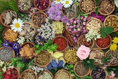 Herbal Medicine Background Royalty Free Stock Photos