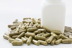 Herbal medicine capsule Royalty Free Stock Photo