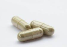 Herbal medicine in the capsule Stock Photo
