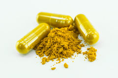 Herbal medicine capsules Royalty Free Stock Photography