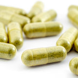 Herbal medicine capsules Royalty Free Stock Photo