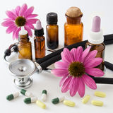 Herbal medicine - and Echinacea Royalty Free Stock Photo