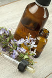 Herbal medicine and flower Royalty Free Stock Photography