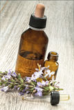 Herbal medicine and flower Stock Photo