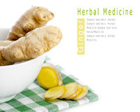 Herbal Medicine: Ginger roots Stock Images