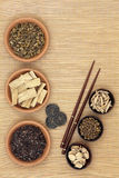 Herbal Medicine with I Ching Coins Royalty Free Stock Photography