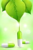 Herbal Medicine. Illustration of herbal medicine formed by leaf juice Stock Photo
