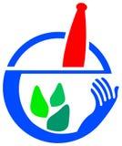 Herbal medicine logo Stock Image