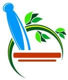 Herbal medicine logo Royalty Free Stock Image