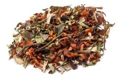 Herbal medicine. Herbal mediicines over white background Stock Photography