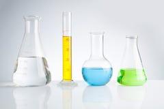 Herbal medicine natural organic and scientific glassware Stock Image