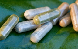 Herbal Medicine Pills Royalty Free Stock Photo