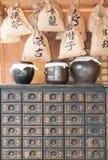 Herbal medicine shop. Korean traditional herbal medicine shop Stock Photos
