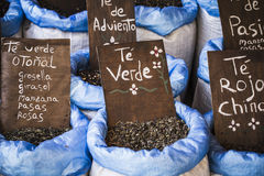 Herbal medicine, street vendor of medicinal herbs, wellness, spi Royalty Free Stock Images