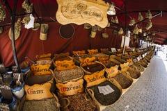 Herbal medicine, street vendor of medicinal herbs, wellness, spi Royalty Free Stock Photos
