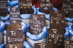 Herbal medicine, street vendor of medicinal herbs, wellness, spi Stock Photography
