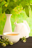 Herbal medicine, tea with  clower flower Royalty Free Stock Image