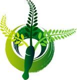Herbal mortar logo Stock Photo