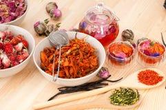 Herbal natural floral tea Royalty Free Stock Images