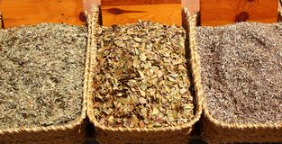 Herbal natural medicine market traditional Royalty Free Stock Images